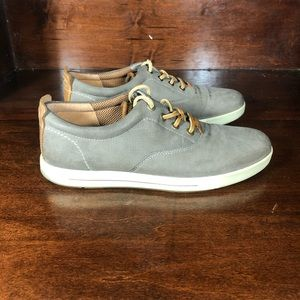 Ecco Perforated Gray Suede Sneakers Sz 41 US 8